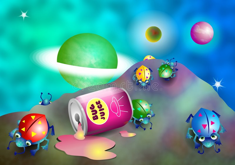 Download Robaki przestrzeni ilustracji. Obraz złożonej z ilustracje - 42281