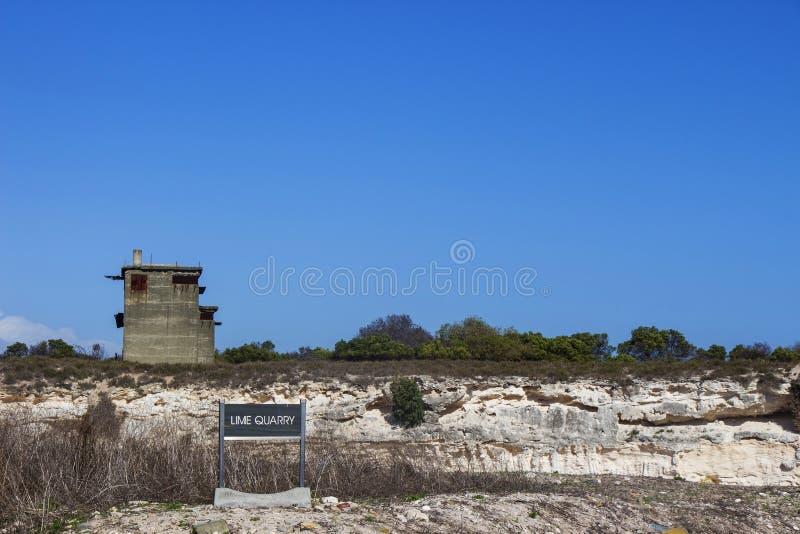 Robben Island Lime Quarry stock image