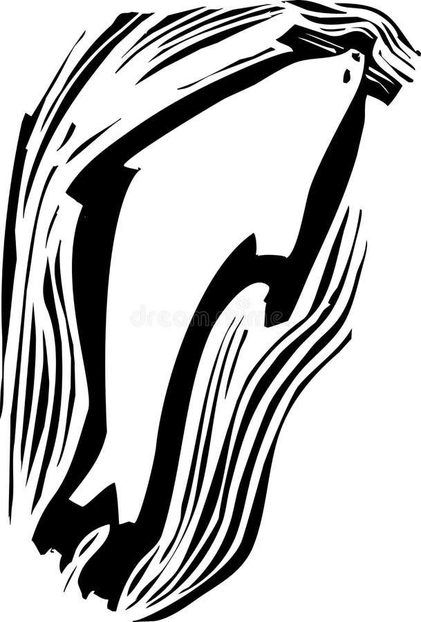 Robbenschwimmen lizenzfreie abbildung
