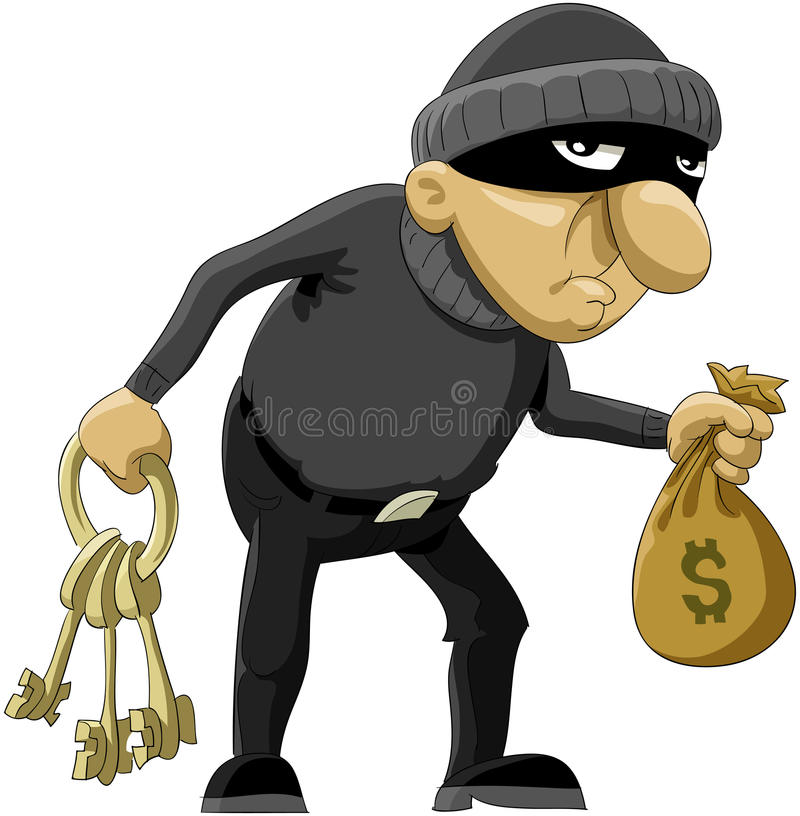 Robber royalty free illustration