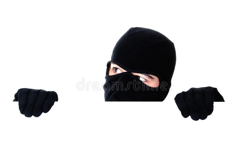 Download Robber hiding under a wall stock photo. Image of unsafe - 24682304