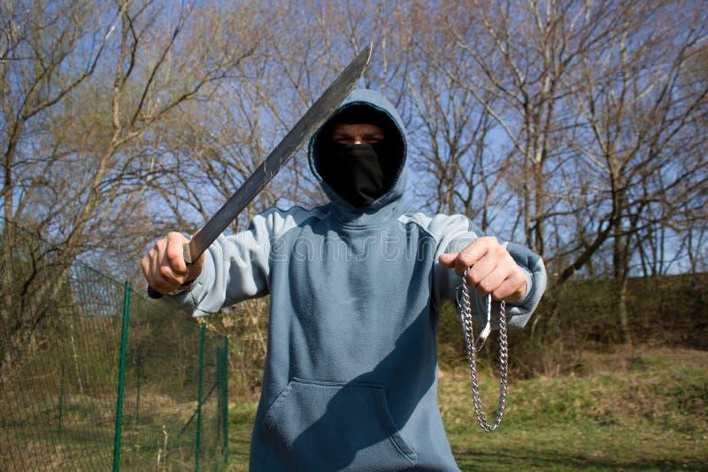 Download Robber with a machete stock photo. Image of rapist, burglary - 19061878