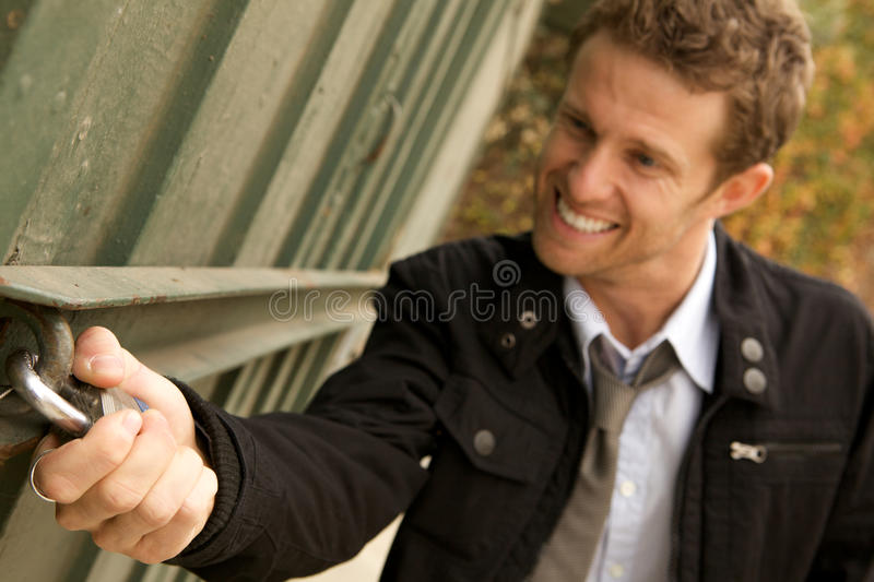 Download A Robber Trying To Break Int Stock Image - Image: 12853097