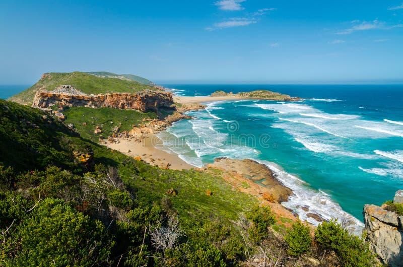 Robberg naturreserv, trädgårds- rutt, Sydafrika royaltyfri fotografi