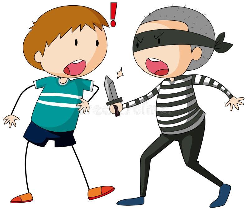 robbery ilustração royalty free