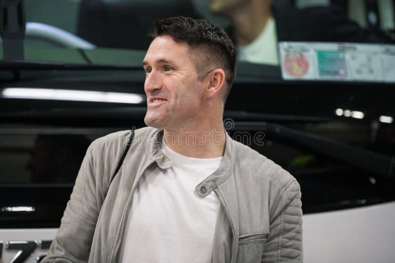 Robbie Keane bij de gemengde streek in Pairc Ui Chaoimh na de Liam Miller Tribute-gelijke stock fotografie