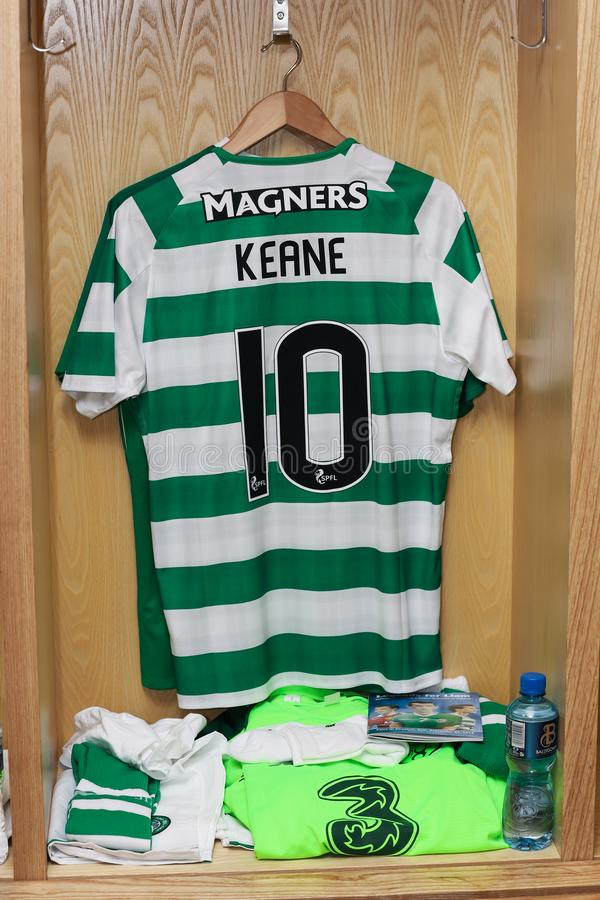 Robbie Keane Jersey klaar voor de Liam Miller Tribute-gelijke royalty-vrije stock foto