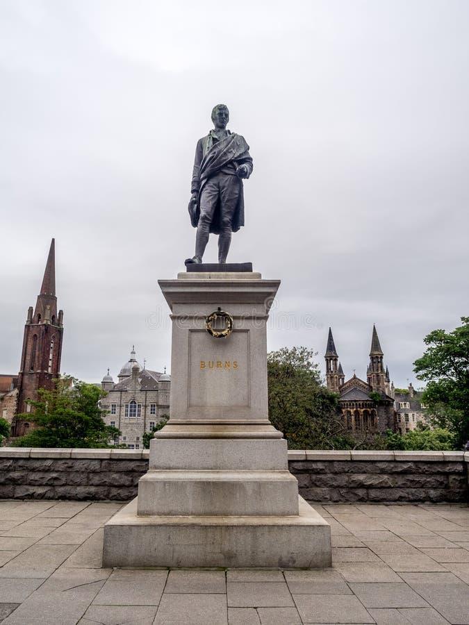Robbie oparzenie, Aberdeen obraz royalty free