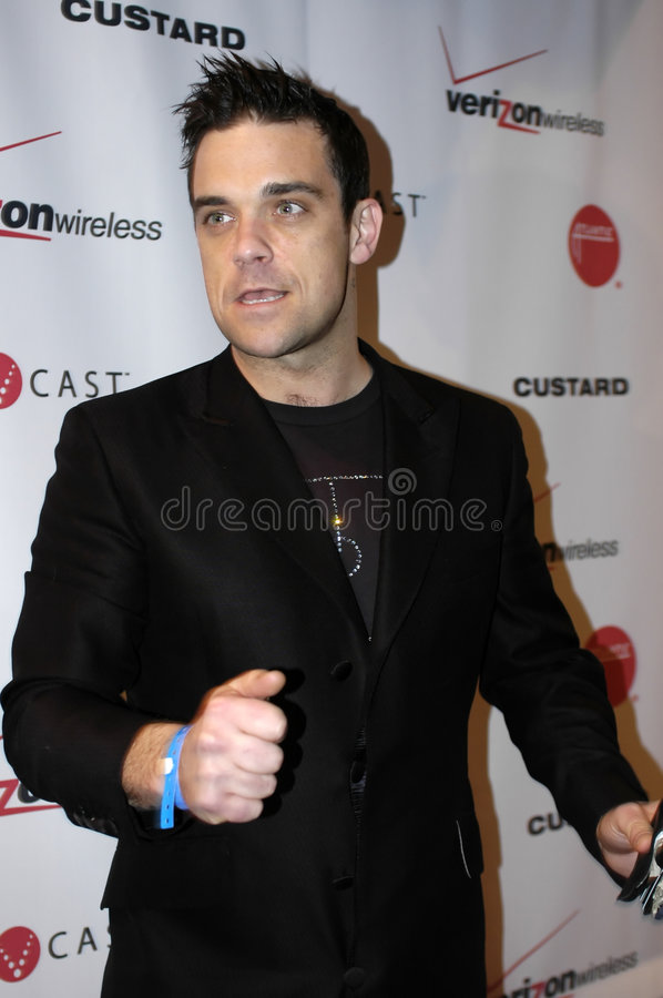 Download Robbie Williams On The Red Carpet Editorial Stock Image - Image: 8599964