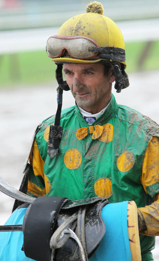 robby albarado的骑师 库存照片