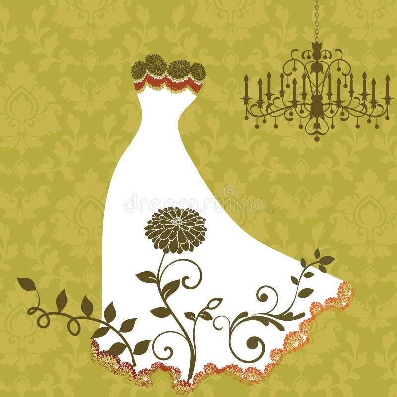 Robe élégante avec la garniture de lacet illustration stock