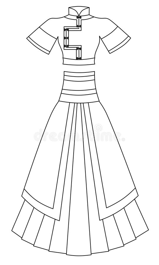Robe illustration stock
