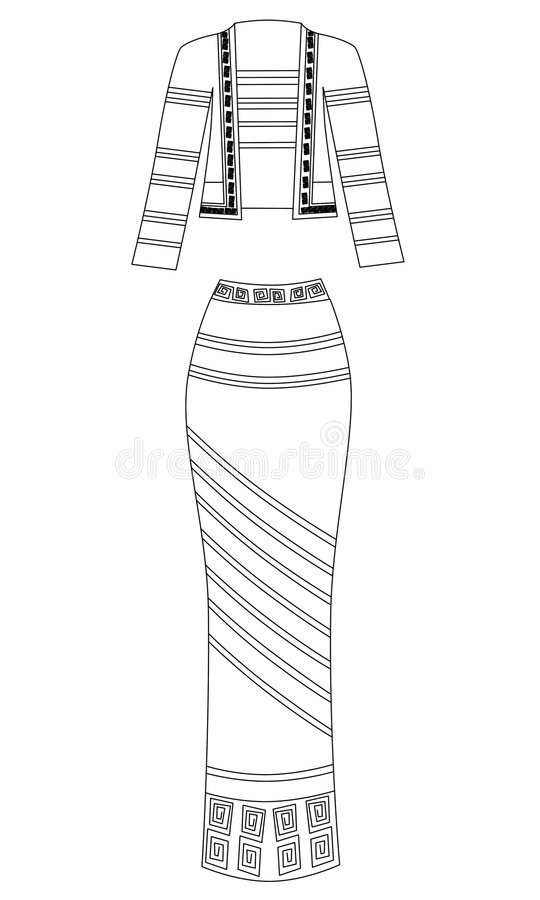 Robe illustration libre de droits