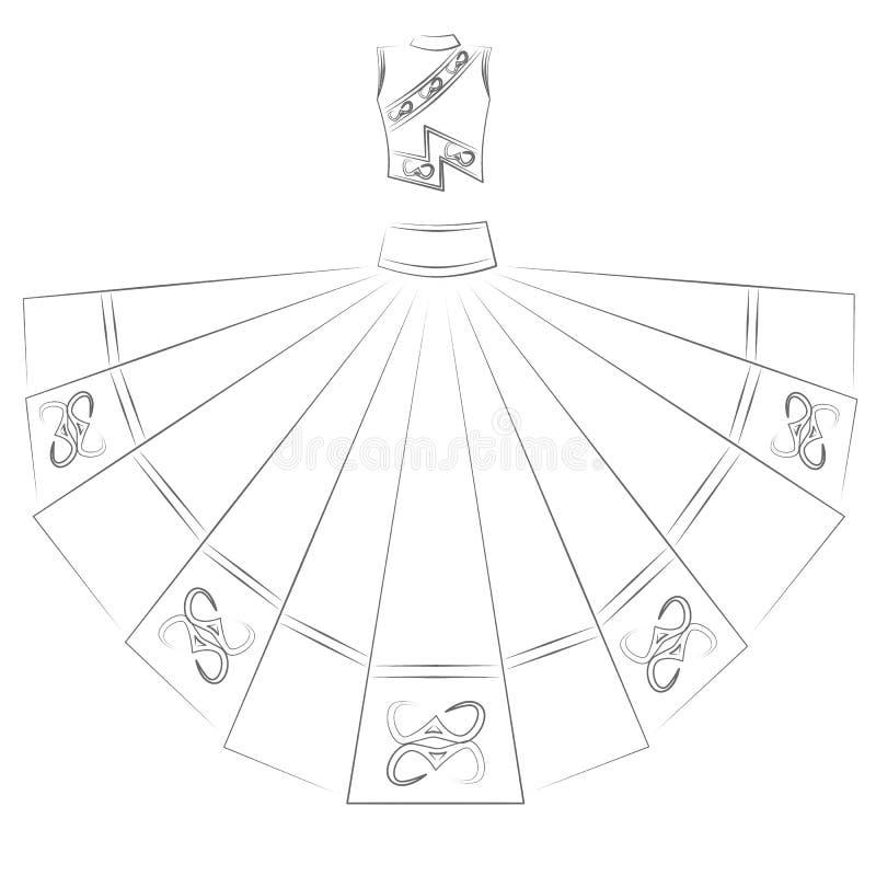 Robe illustration de vecteur