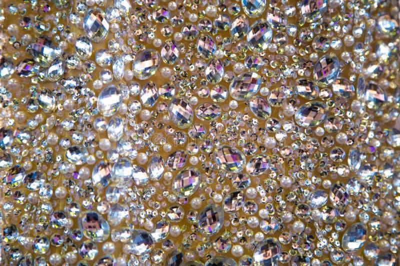 Robe avec des cristaux photo stock