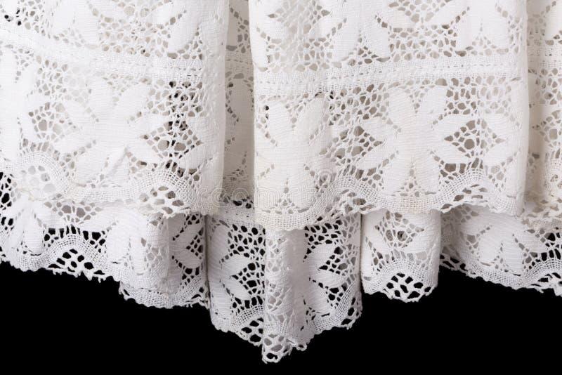 Robe blanche de surplis de prêtre de dentelle photographie stock libre de droits