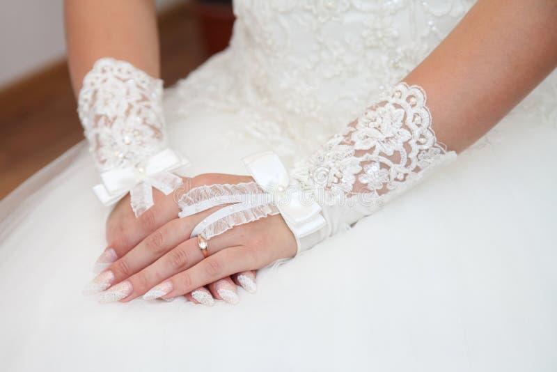 Robe de la jeune mariée photographie stock