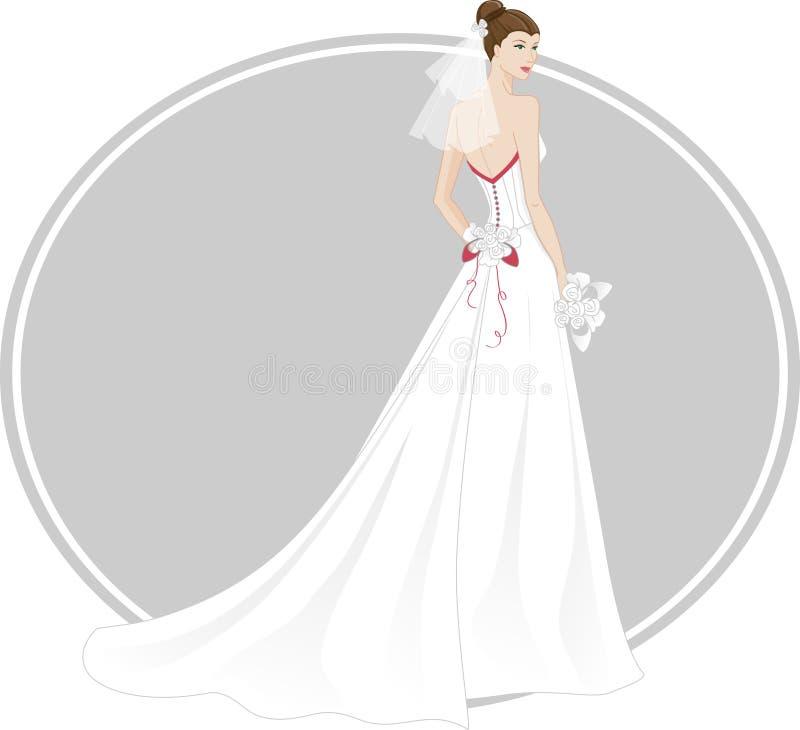 Robe de mariage illustration de vecteur
