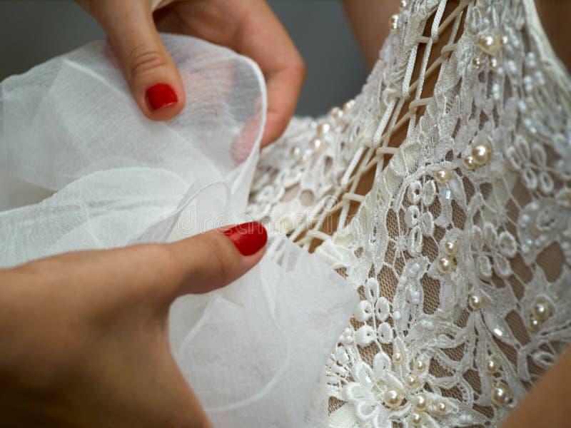 Robe de mariage photos libres de droits