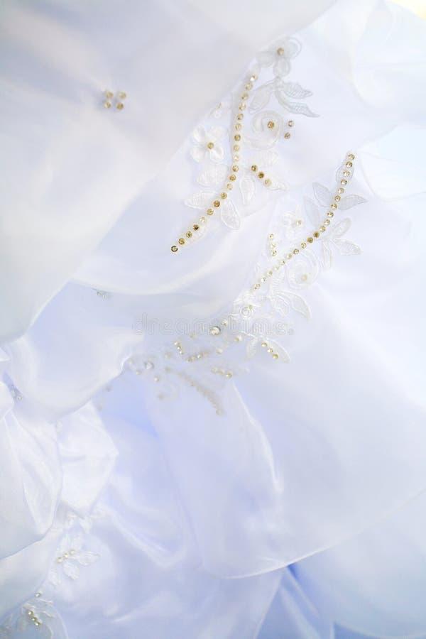 Robe de mariage avec des boutons photos libres de droits