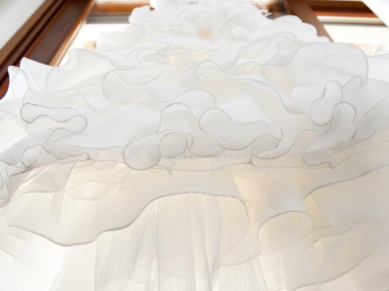 Robe de mariage blanche photos stock