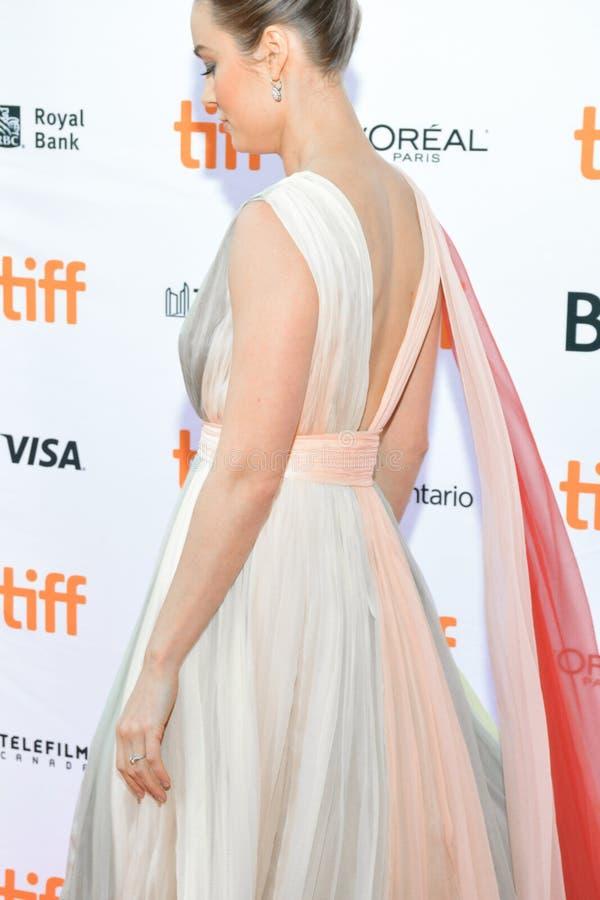 Robe du ` s de Brie Larson à la première de ` d'Unicorn Store de ` à tIFF2017 image libre de droits