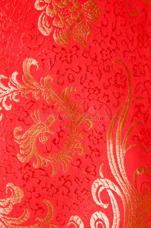 Robe en soie de chinois traditionnel rouge photographie stock