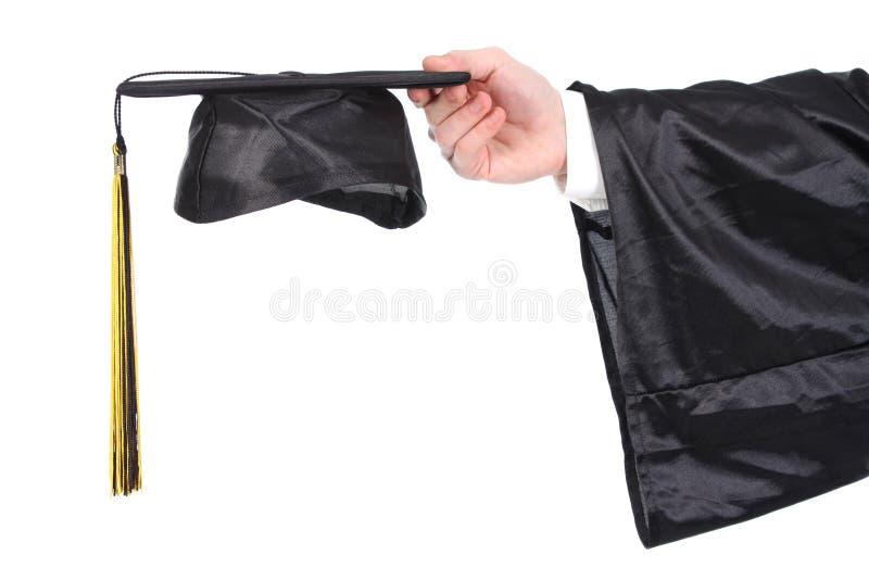 Robe et mortarboard de graduation image stock