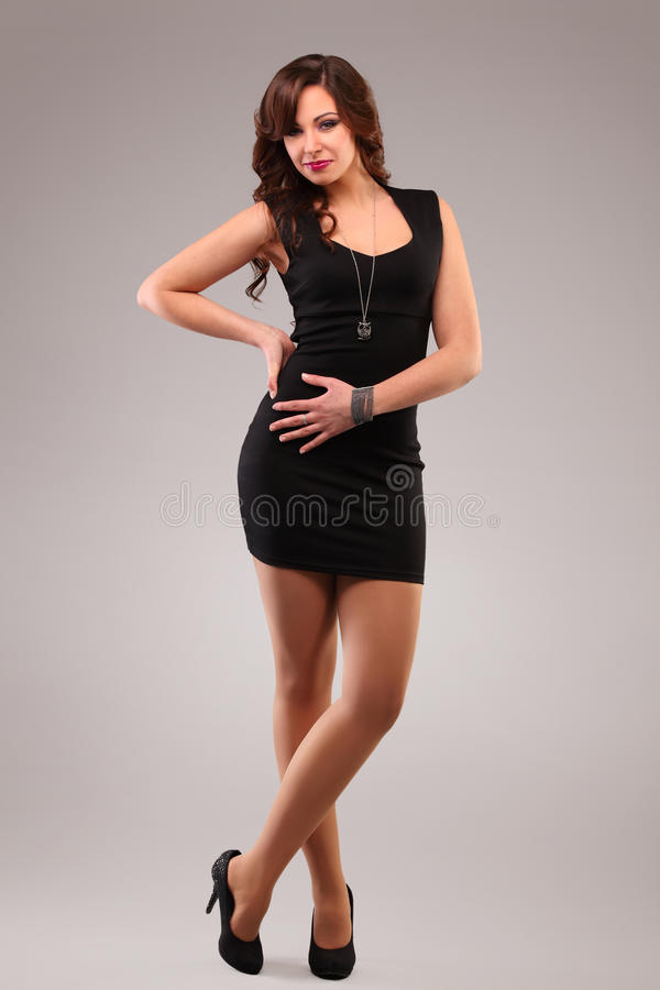 Robe noire images stock