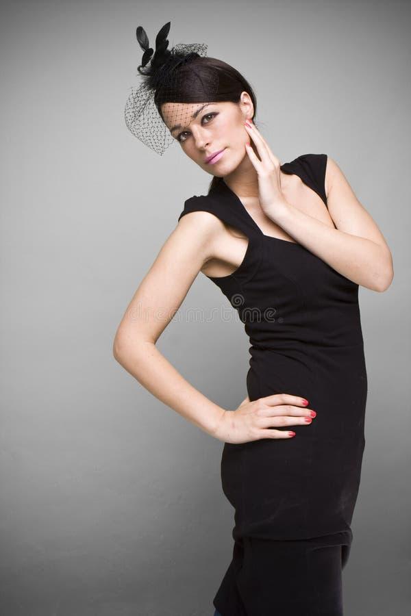 robe noire photo stock