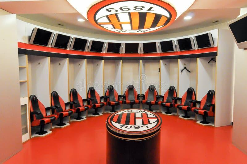 Robe-pièce d'AC Milan images libres de droits