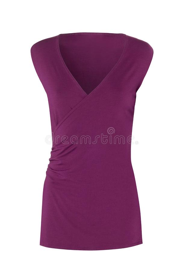 Robe pourpre d'isolement image stock