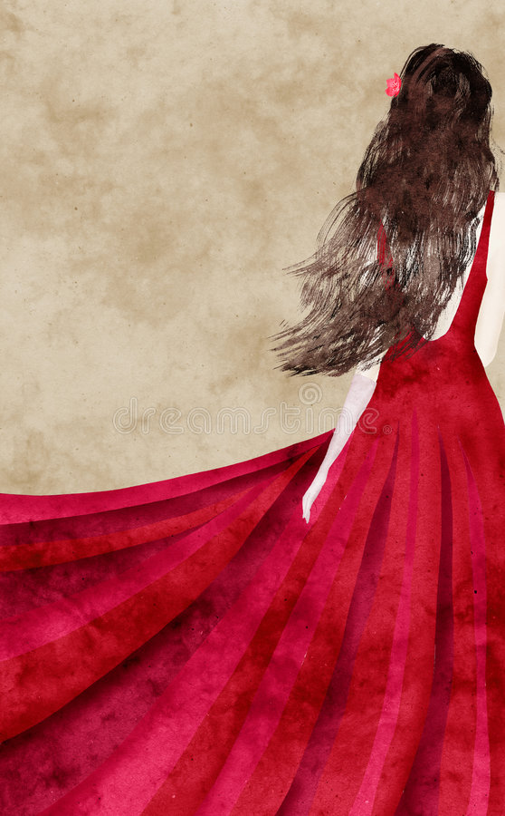 Robe rouge illustration de vecteur
