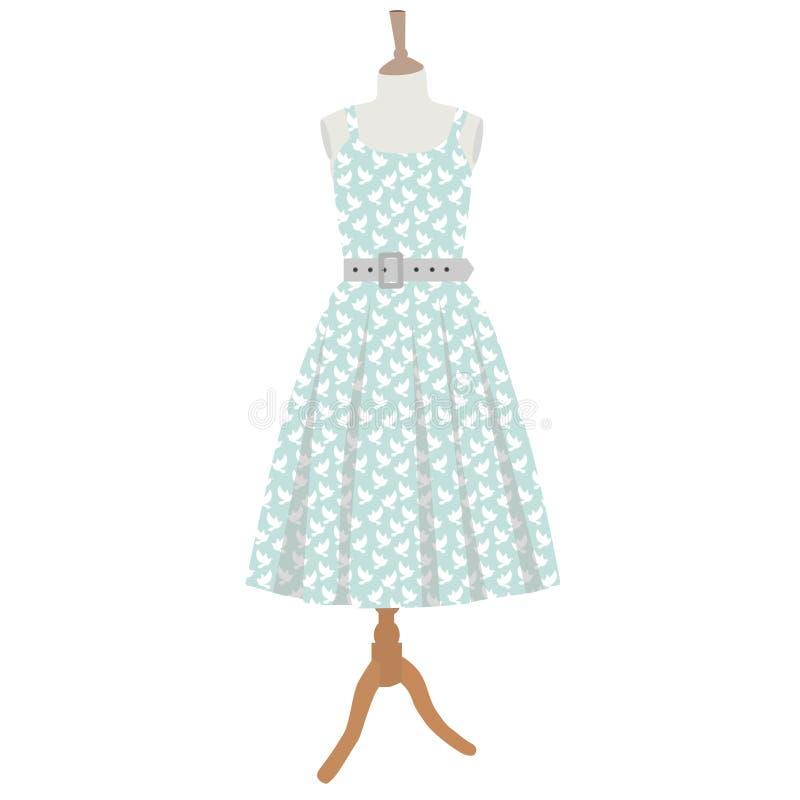 robe sur le mannequin illustration de vecteur