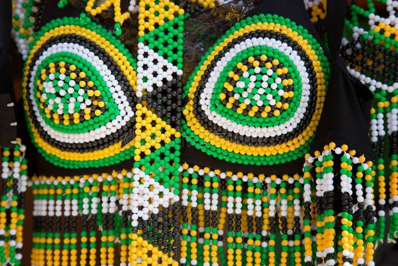 Robe tribale sud-africaine photos stock