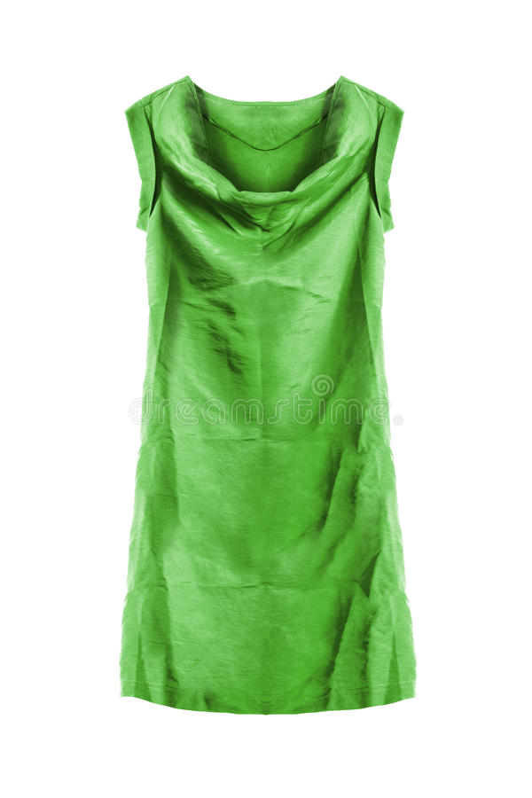 Robe verte d'isolement photos libres de droits