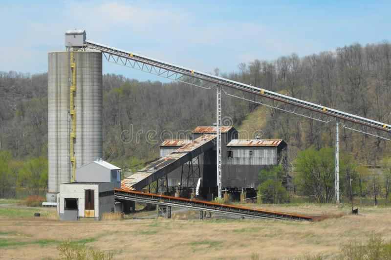Robena coal mine. Structures from the old Robena Coal Mine in Greene County, Pennsylvania. When this was a captive coal mine for U.S. Steel it was at times the royalty free stock photos