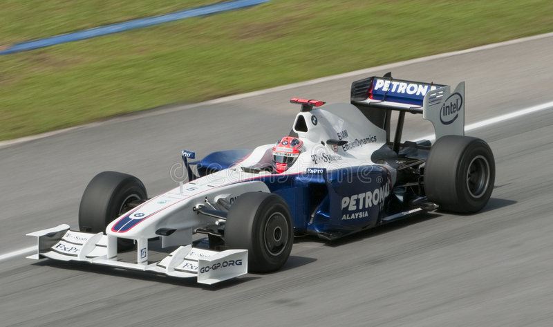 Robert 2009 Kubica no Malaysian F1 Prix grande foto de stock