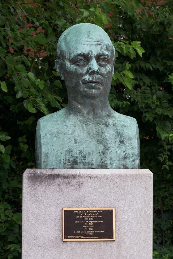 Robert Alphonso Taft bust. Son of President Taft at the William Howard Taft National Historic Site in Cincinnati, Ohio royalty free stock photo