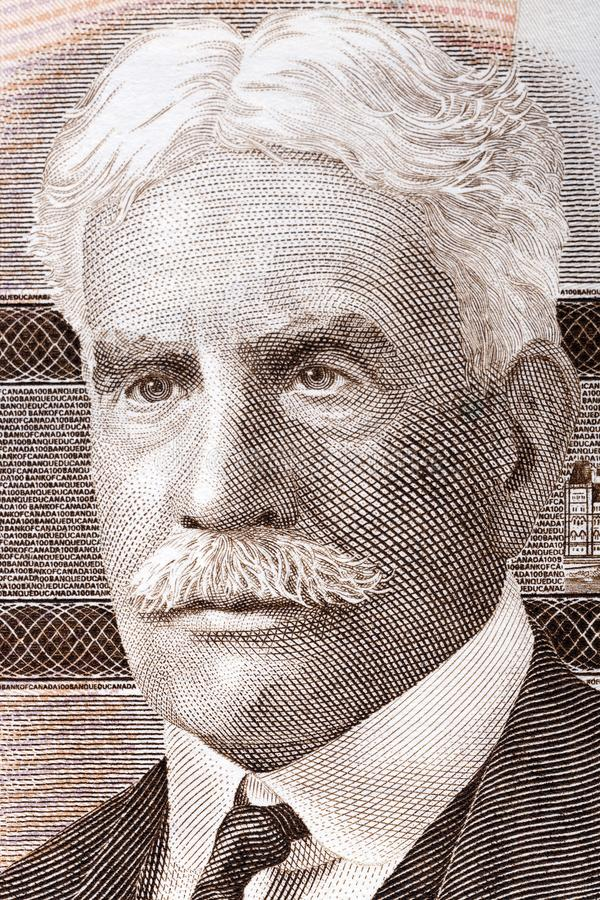 Robert Borden-portret stock foto