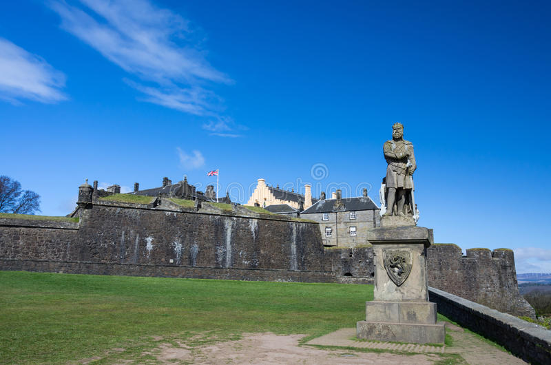 Robert the Bruce in front of Stirling Castle stock photo