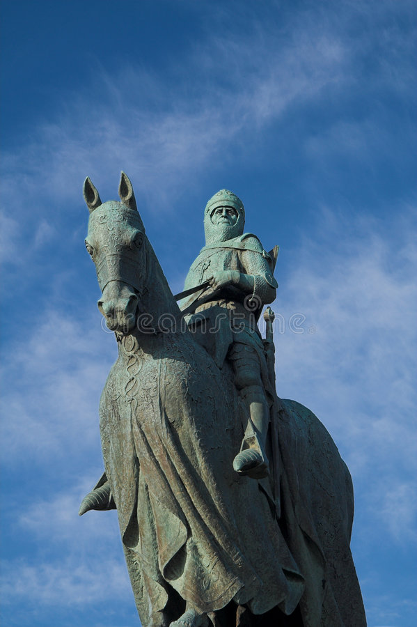 Robert Bruce Monument, Stirling stock photo