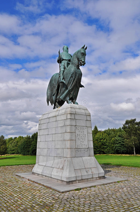 Robert the Bruce Monument at Bannockburn. The monument to King Robert the Bruce on the battlesite of Bannockburn, fought in 1314 royalty free stock images