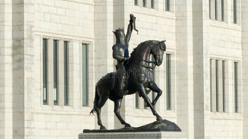 Robert The Bruce Statue Aberdeen Schotland royalty-vrije stock foto