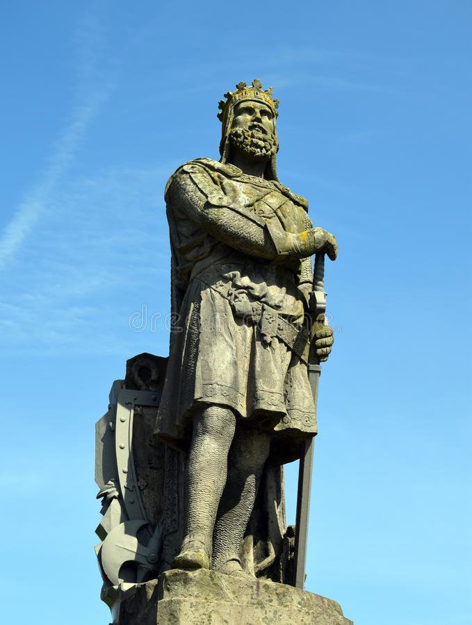 Robert the Bruce Statue royalty free stock images