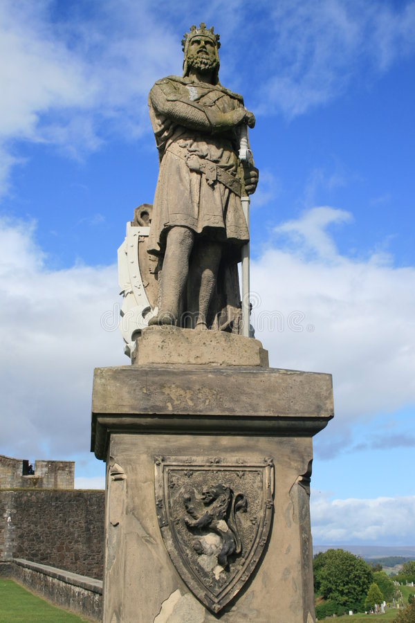Robert the bruce stirling cast. Statue of robert the bruce king of the scots royalty free stock image