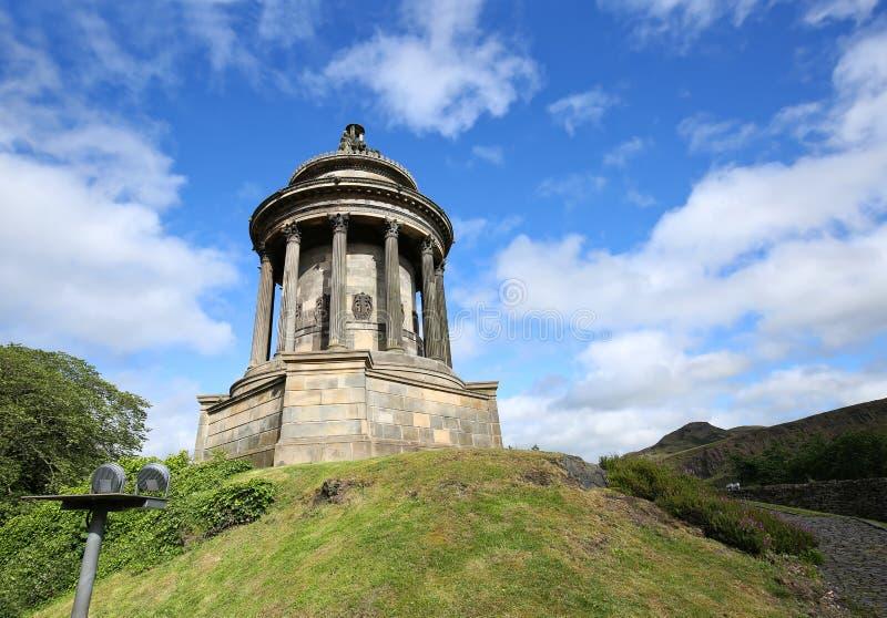 Robert Burns Monument in Edinburgh lizenzfreie stockfotografie