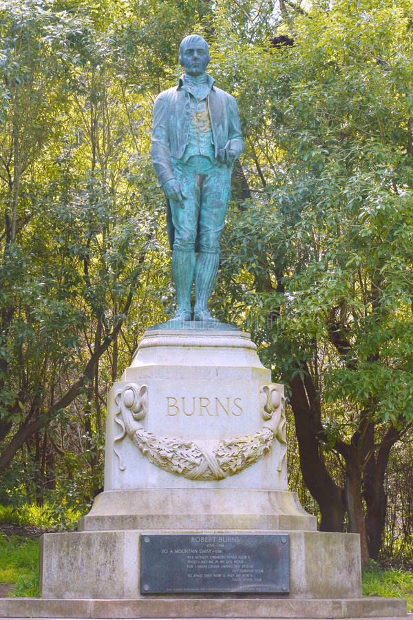 Robert Burns Monument en Golden Gate Park en San Francisco fotografía de archivo