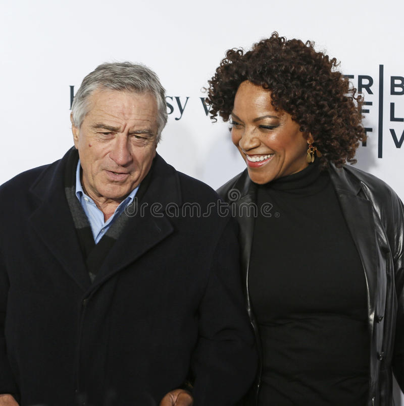 Robert De Niro e Grace Hightower imagem de stock