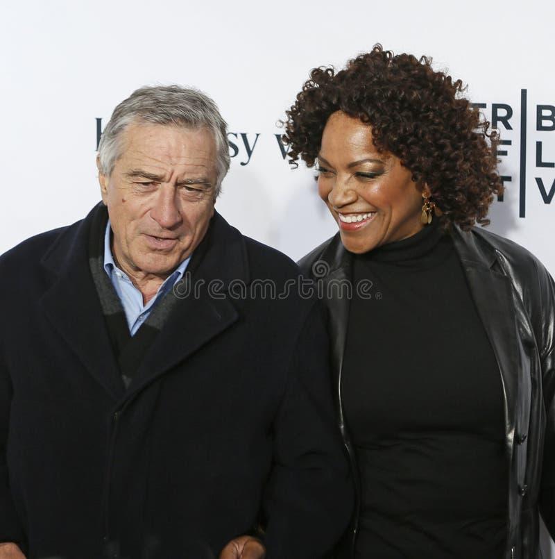 Robert De Niro en Grace Hightower stock afbeelding
